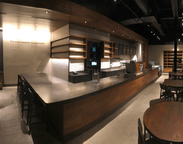 Starbucks Counter Angle